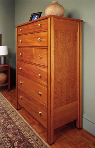Contemporary six drawer clothes dresser tall plan diy ebay for Clothes dresser
