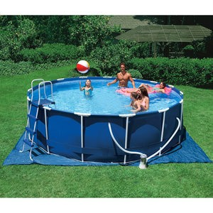 12 39 x 39 metal frame above ground pool made by intex ebay