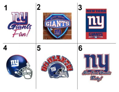 new york giants address labels images