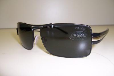 NEW PRADA SUNGLASSES SPR 65H 1BO 1A1 BLACK GRAY 65HS AUTHENTIC