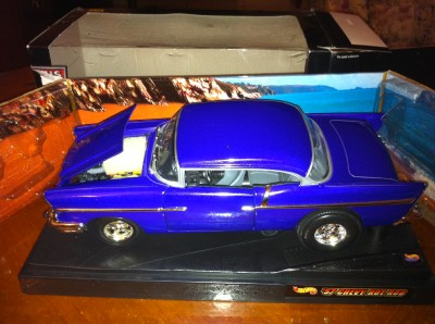 1957 Chevy Custom Hot Wheels RARE 1 18 Scale Die Cast