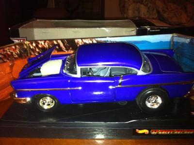 1957 Chevy Custom Hot Wheels RARE 1 18 Scale Die Cast