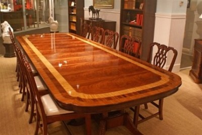 American Hand Crafted Large Banquet Dining Table