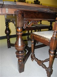 Antique European Castle Gothic Style Carved Dining Table Circa 1900 EBay