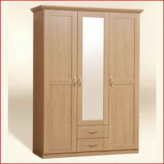RIO 3 DOOR WARDROBE LIGHT OAK BEDROOM FURNITURE EBay