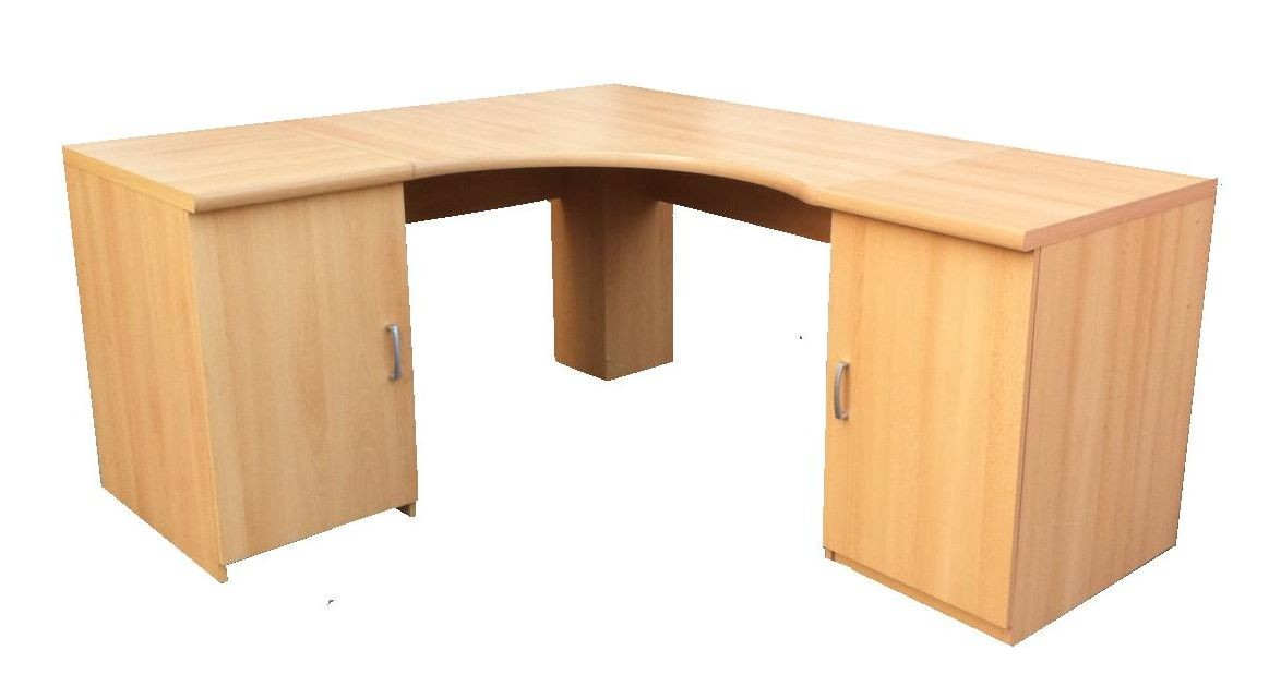 DESK WORKSTATION COMPUTER TABLE FOR HOME OR OFFICE FURNITURE BEECH