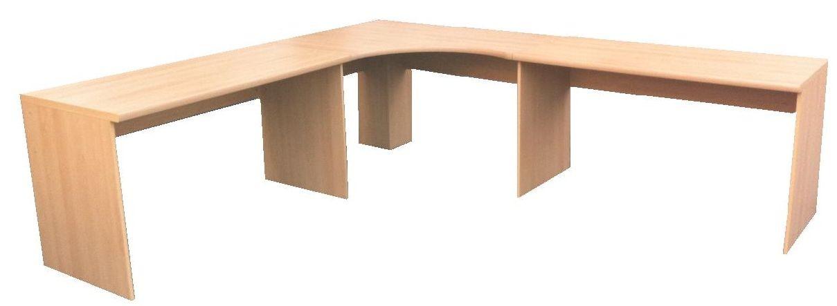 CORNER DESK WORKSTATION COMPUTER TABLE HOME/ OFFICE FURNITURE BEECH