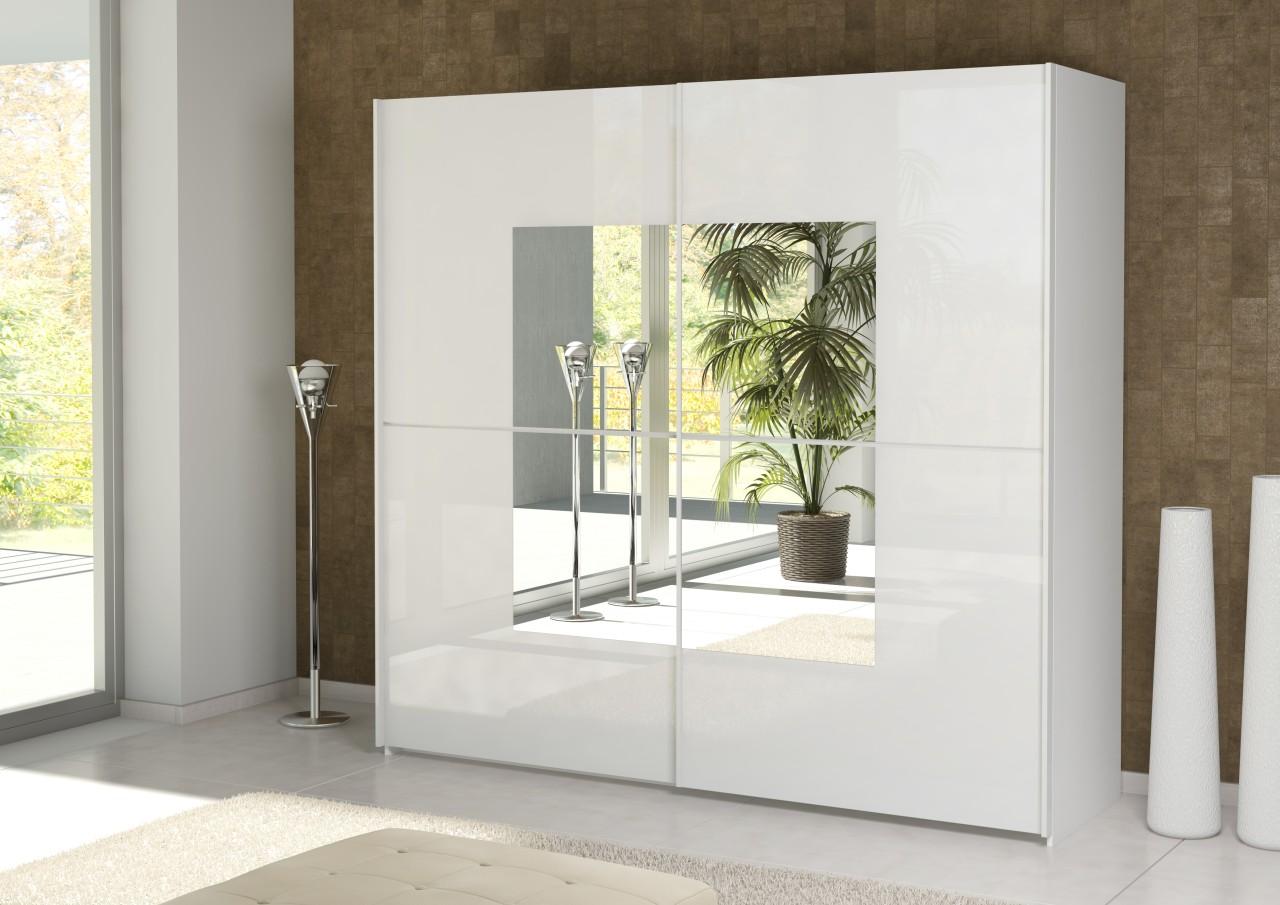Gloss White Sliding Door Wardrobe Slider Cupboard New Furniture EBay