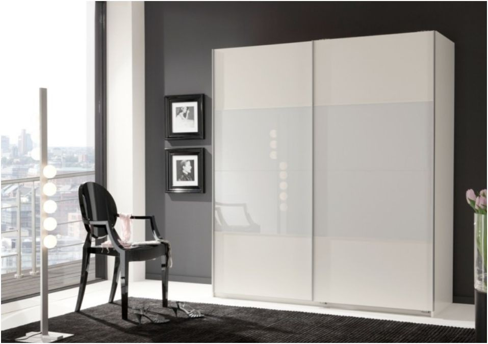 Details About Verona Sliding Door Wardrobe Cupboard White Glass And