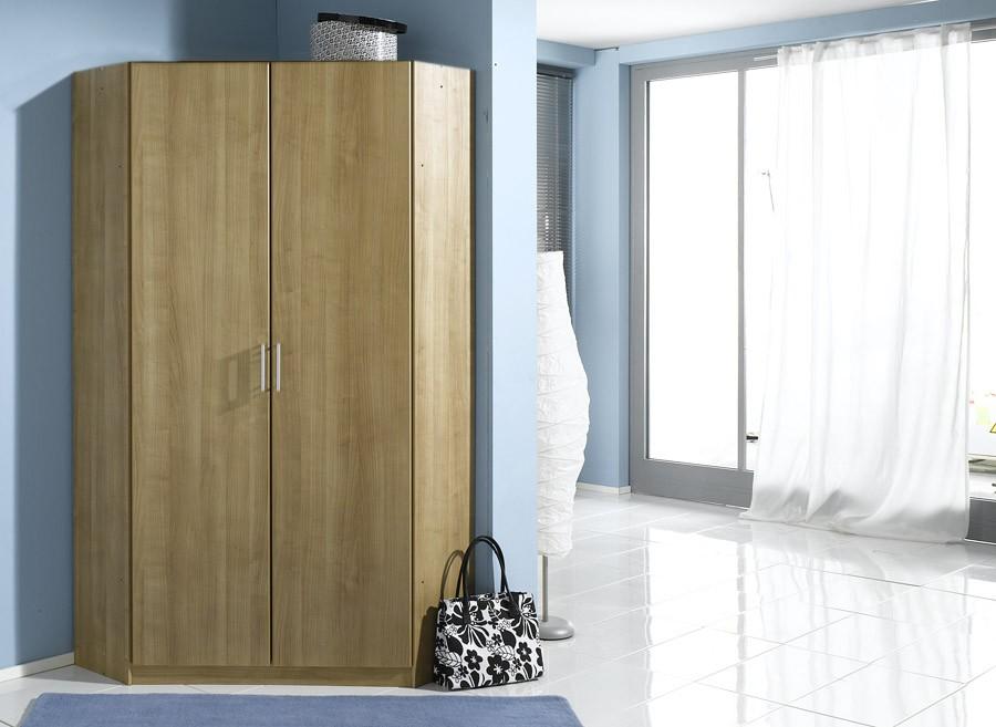 Genoa 2 door corner wardrobe cupboard bedroom furniture for 1 door corner wardrobe