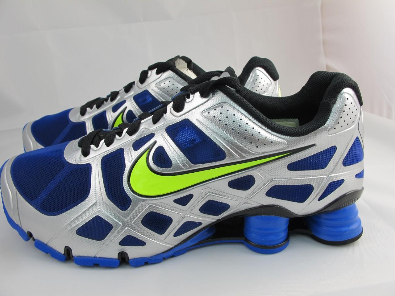 Nike Shox Blue And Green