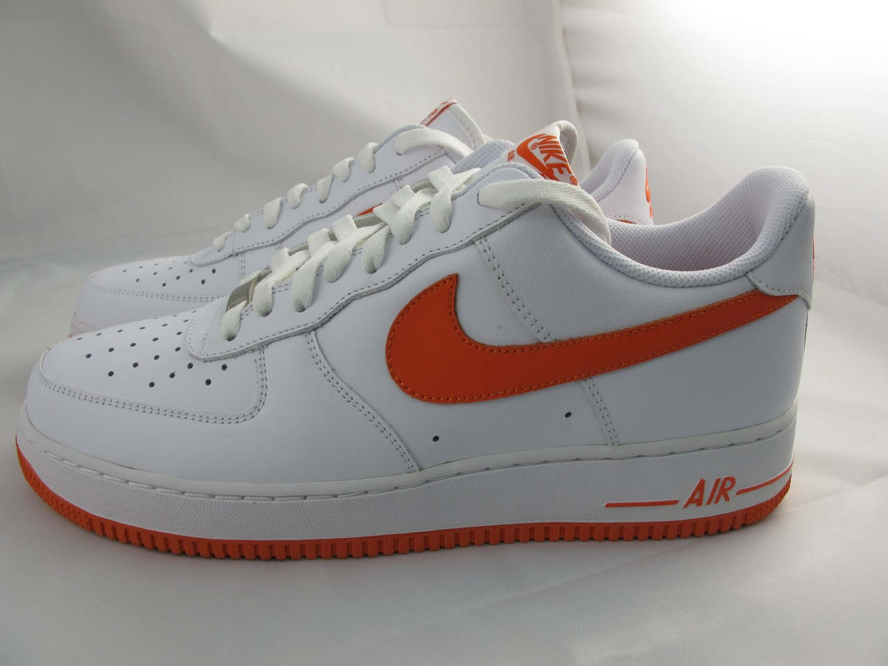 NEW-MEN-039-S-NIKE-AIR-FORCE-1-039-17-315122-181-WHITE-ORANGE-BLAZE
