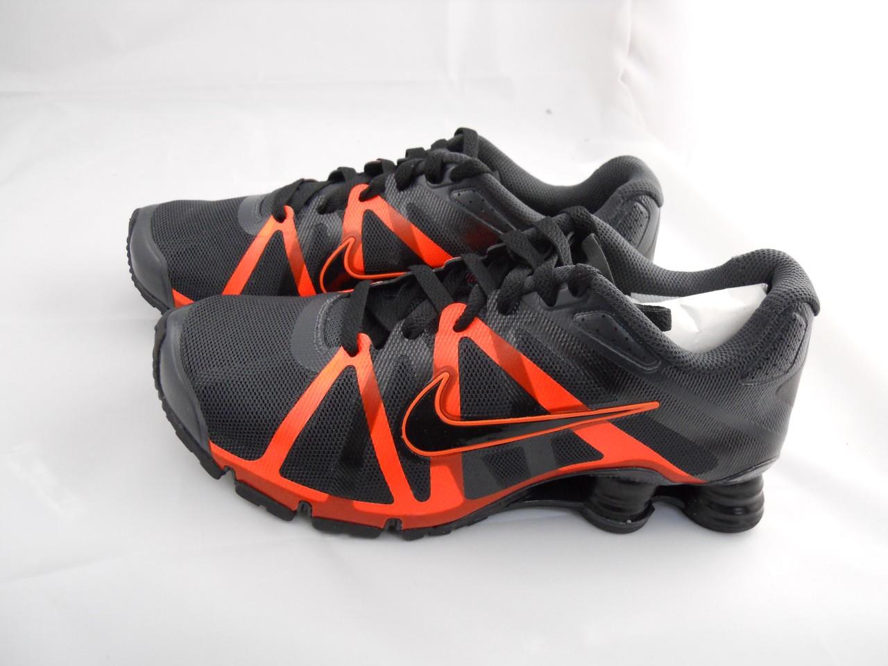 683a0f9a29f New Mens Nike Shox Roadster 487604 008 Anthracite Black Total Orange