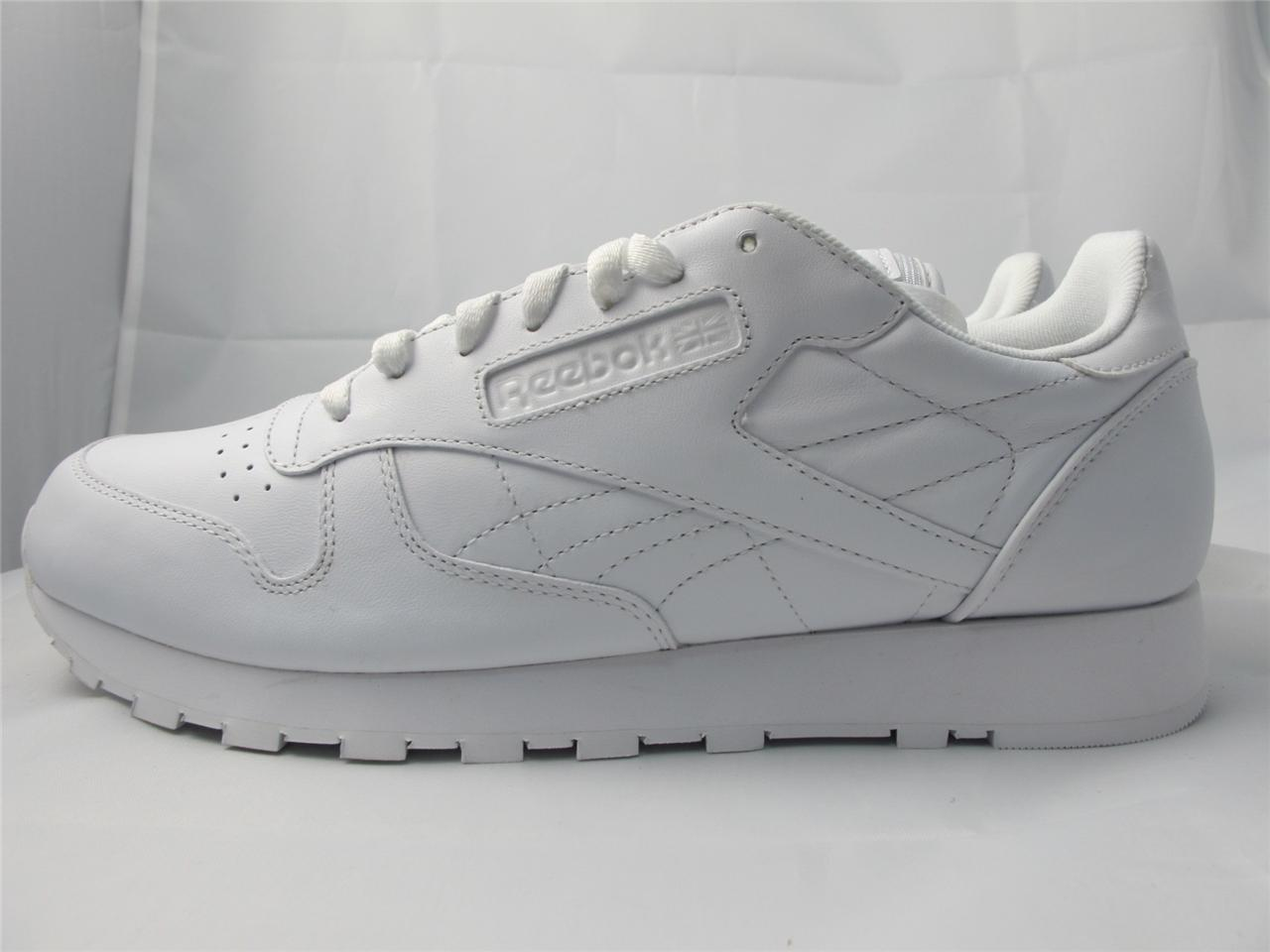 new men 39 s reebok classic leather sneakers j90117 white. Black Bedroom Furniture Sets. Home Design Ideas