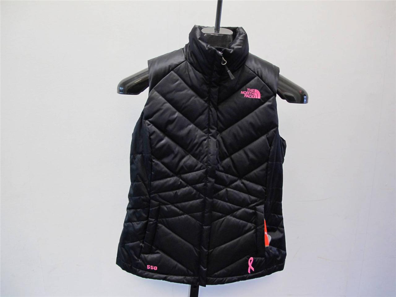 NEW-WOMEN-039-S-NORTH-FACE-ACONCAGUA-PR-BREAST-CANCER-VEST-A7XWJK3-BLACK