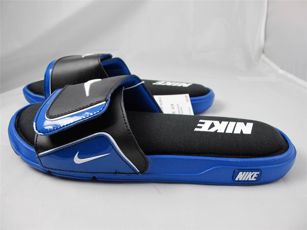 mens nike comfort slides 2 blue