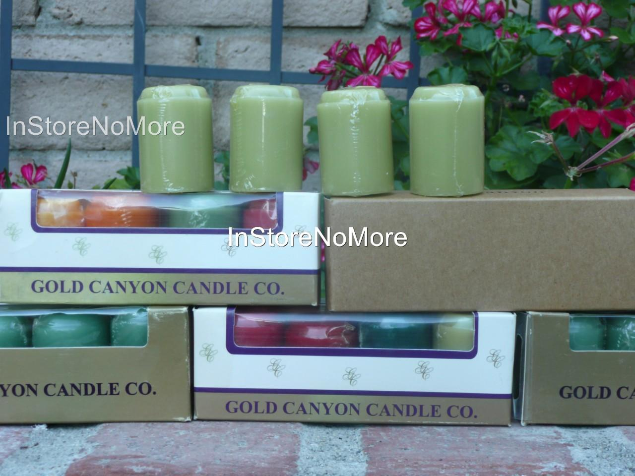 Gold-Canyon-Candles-Votives-4-Pack-RARE-DISCONTINUED