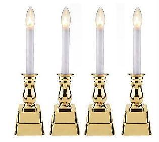 bethlehem lights set of 4 battery operated window candles. Black Bedroom Furniture Sets. Home Design Ideas