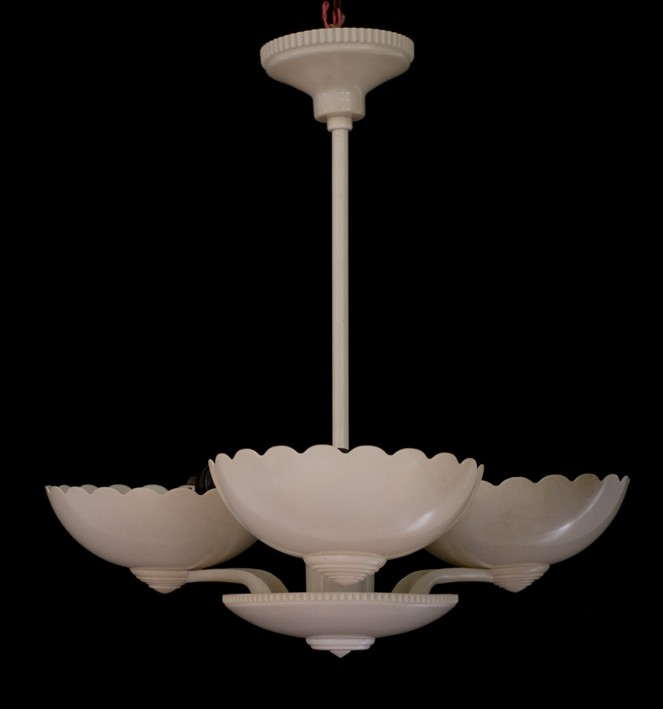VINTAGE ART DECO IVORY BAKELITE CEILING LIGHT CLASSIC 1930 39 S ANTIQUE LI