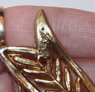 Vintage hallmark s inside star figural bow ribbon pink for Star hallmark on jewelry
