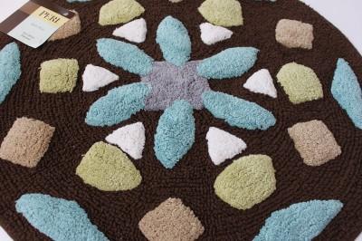 peri quot morocco quot mosaic bath mat rug brown blue grn 25 quot ebay