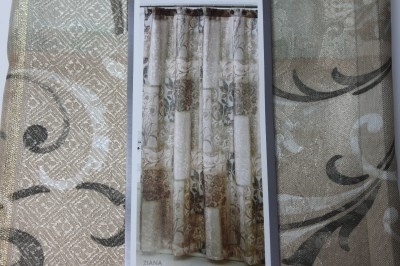 Croscill Home Ziana Fabric Shower Curtain Neutral Multi