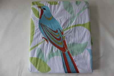 Hillcrest Paradise Birds Embroidered Shower Curtain Teal Orange Green White Ebay