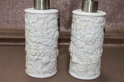 cynthia rowley porcelain floral bath accessories set
