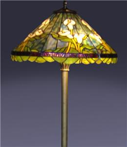 tiffany style handcrafted stained glass calla lily floor With tiffany style calla lily floor lamp