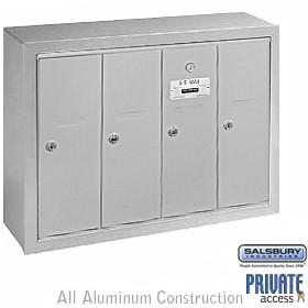 salsbury vertical style commercial mailboxes are ideal for apartments