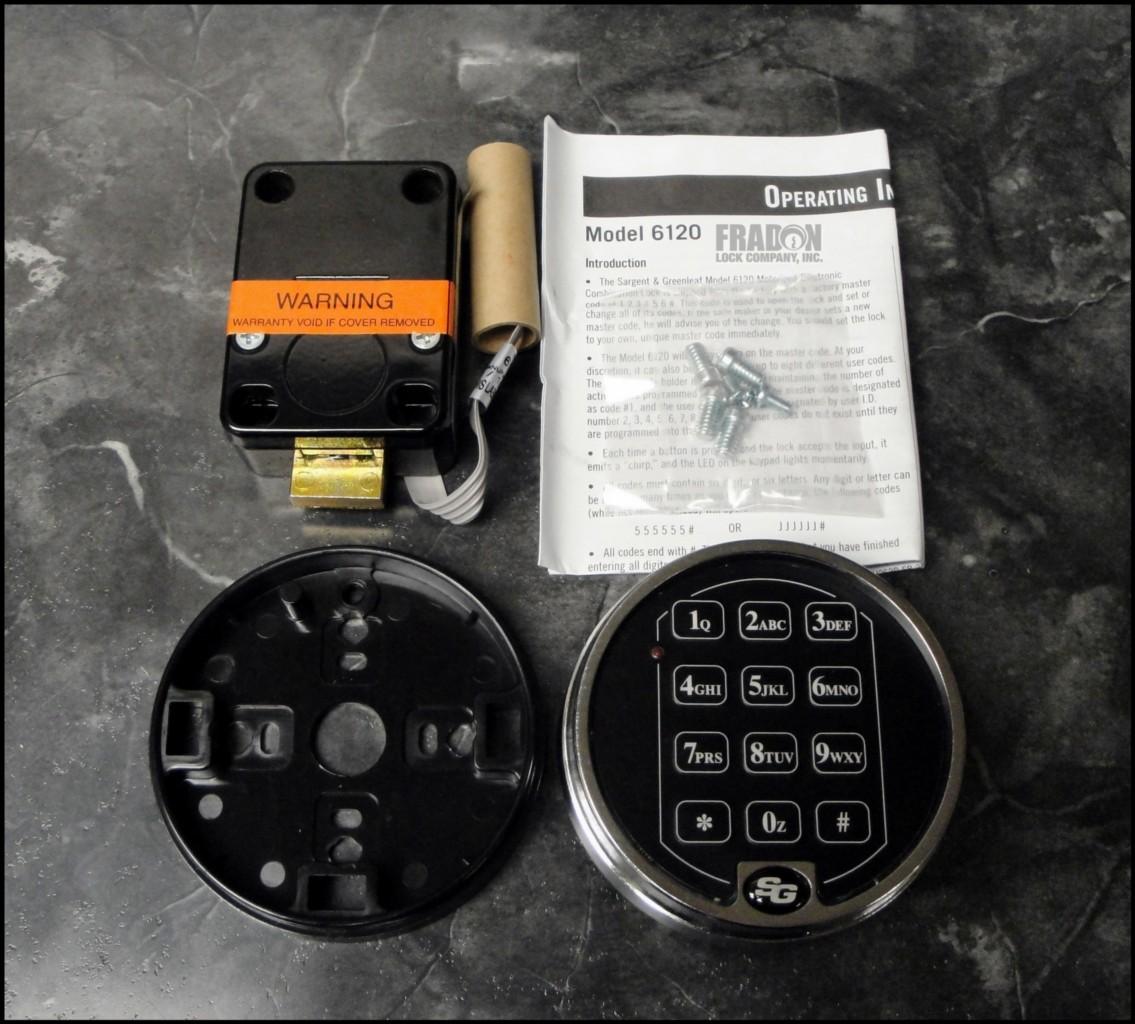 s g 6120 chrome electronic keypad safe lock combo gun safe. Black Bedroom Furniture Sets. Home Design Ideas