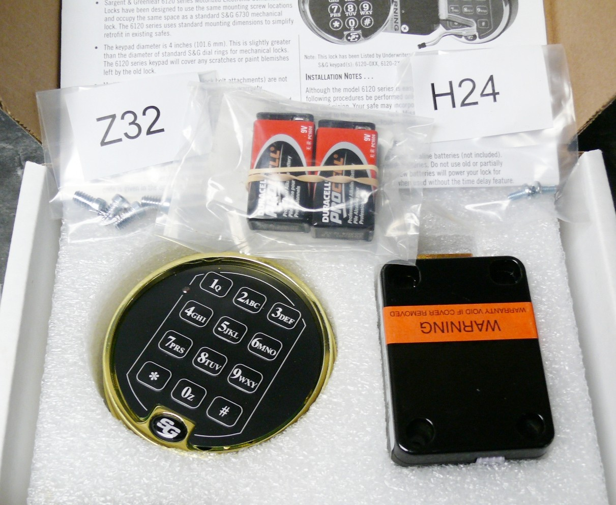 Electronic Keypad Lock Kit Right Left Handle Digital Coded Hqs1436 Simple Combination Circuit S G 6120 Brass Safe Combo Gun