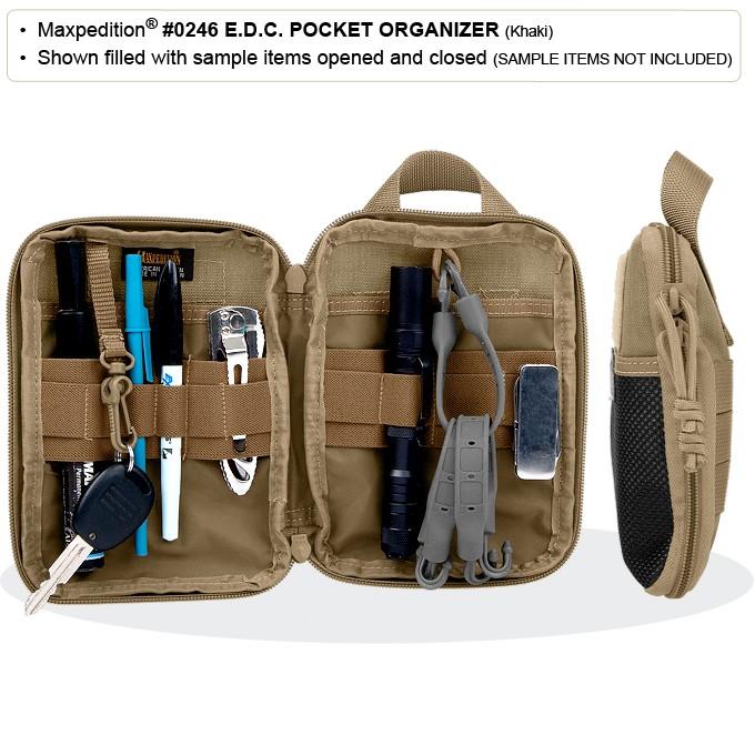 Maxpedition Edc Pocket Organizer Pouch Case Khaki 0246k
