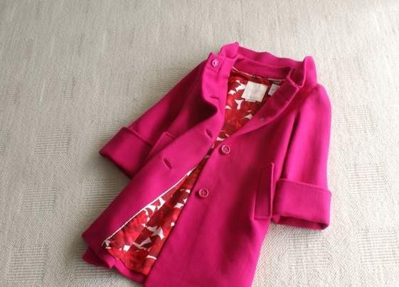 Auth $695 Kate Spade New York Cherie Wool Coat