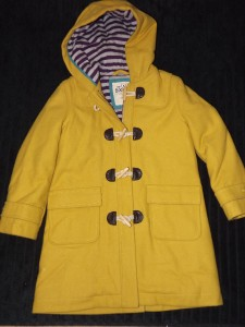 New mini boden 2012 duffle coat age 5 6 in corn yellow and for Boden yellow coat