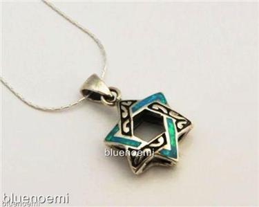 Star of David necklace opal sterling silver Bat Mitzva | eBay