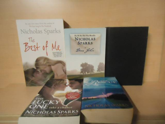 NICHOLAS-SPARKS-LOT-OF-5-BOOKS-THE-RESCUE-THE-LUCKY-ONE-DEAR-JOHN