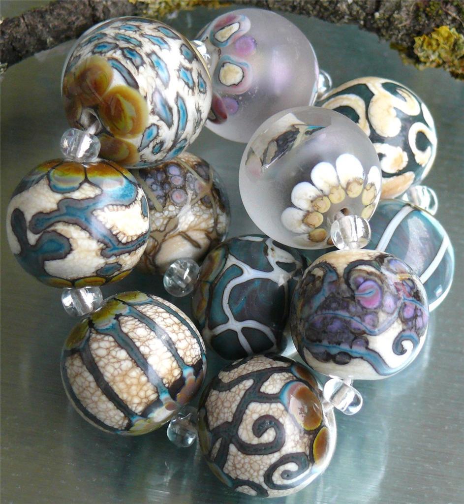 Glass-Artisan-Lampwork-Beads-Glasperlen-034-Petrified-Ocean-034