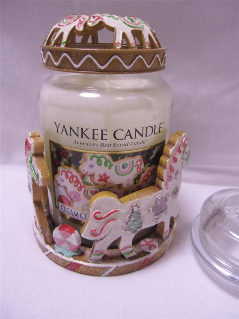 yankee candle my favorite things cream colored ponies jar candle holder lid. Black Bedroom Furniture Sets. Home Design Ideas