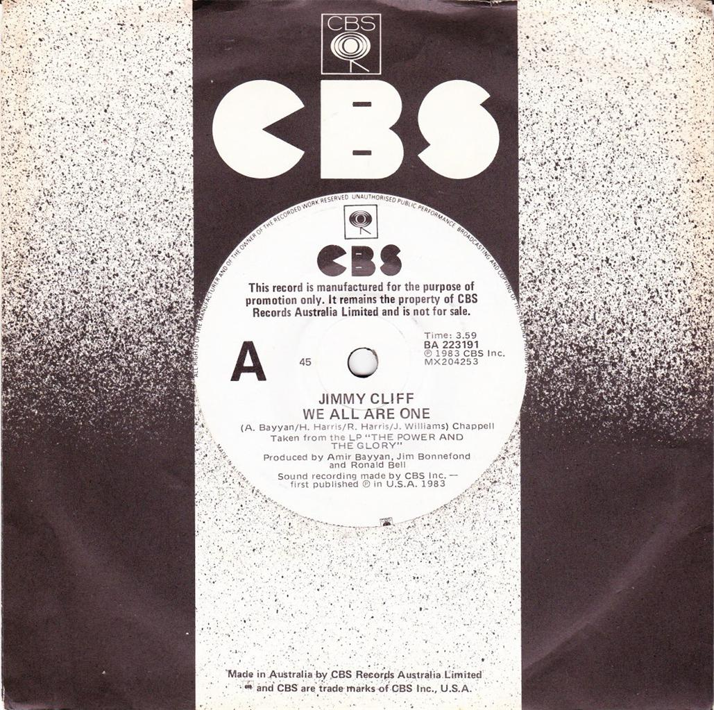 JIMMY-CLIFF-OZ-PROMO-45-83-WE-ALL-ARE-ONE-c-w-ROOTS-WOMAN