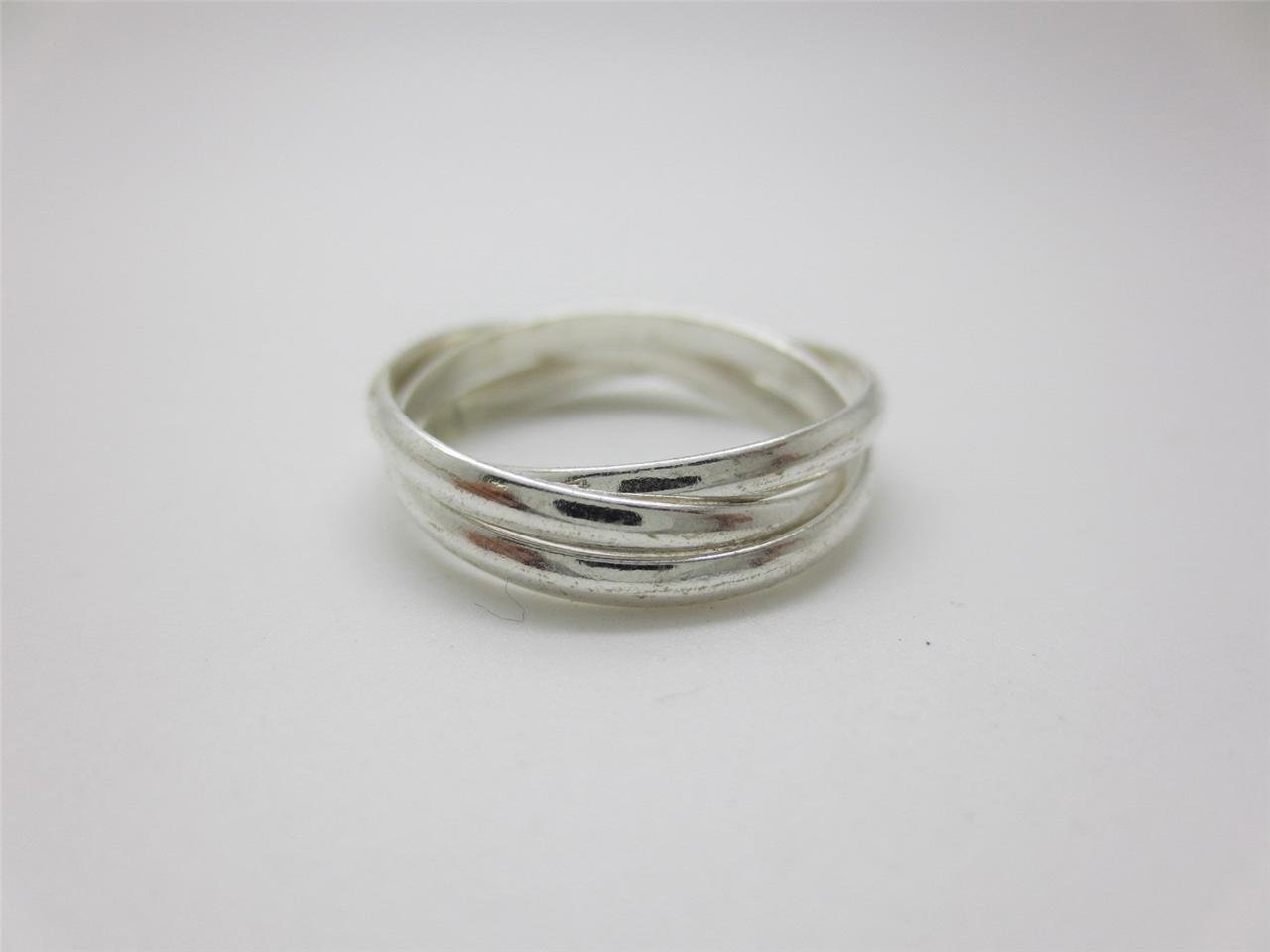 925 sterling silver 3 band russian wedding ring various