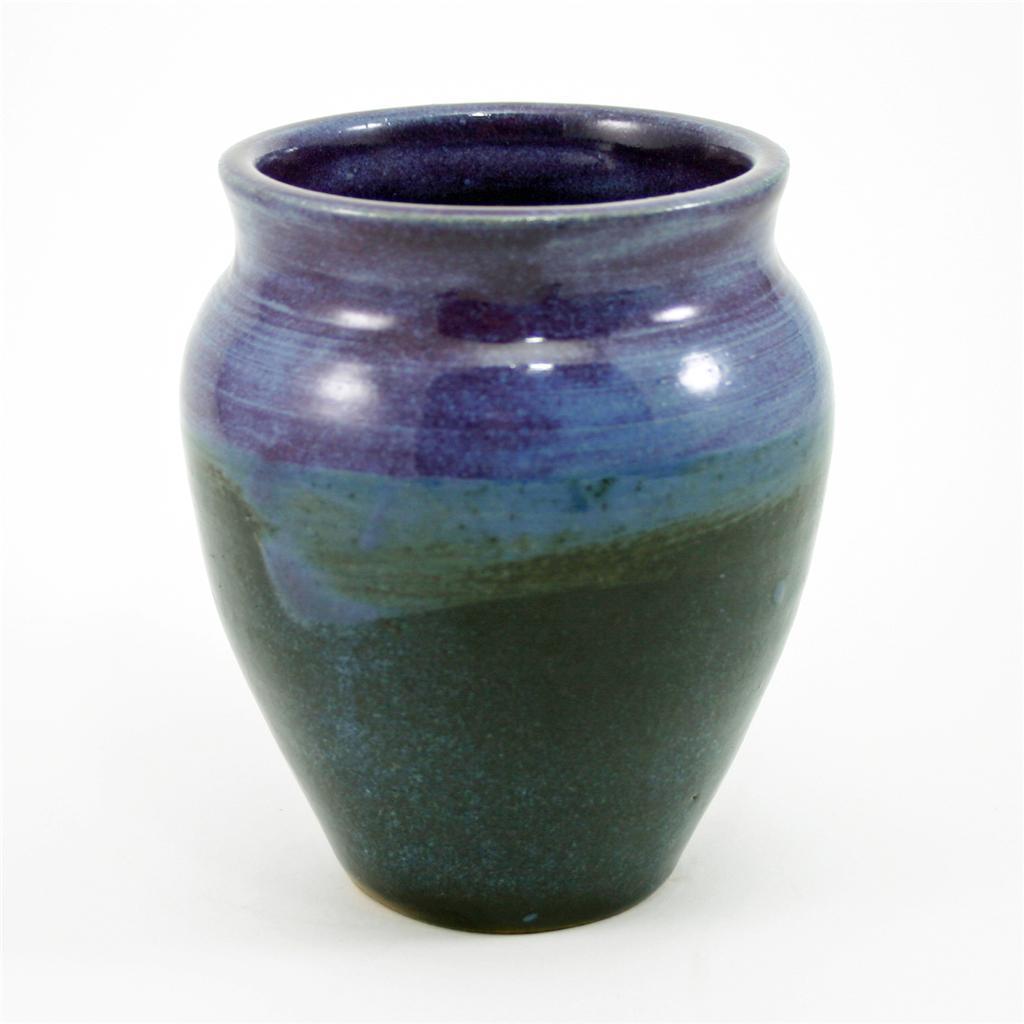 Handcrafted Studio Stoneware Pottery Vase Artist Signed