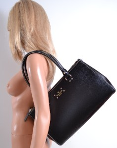 Kate Spade Black Martine Wellesley Leather Purse Business Bag