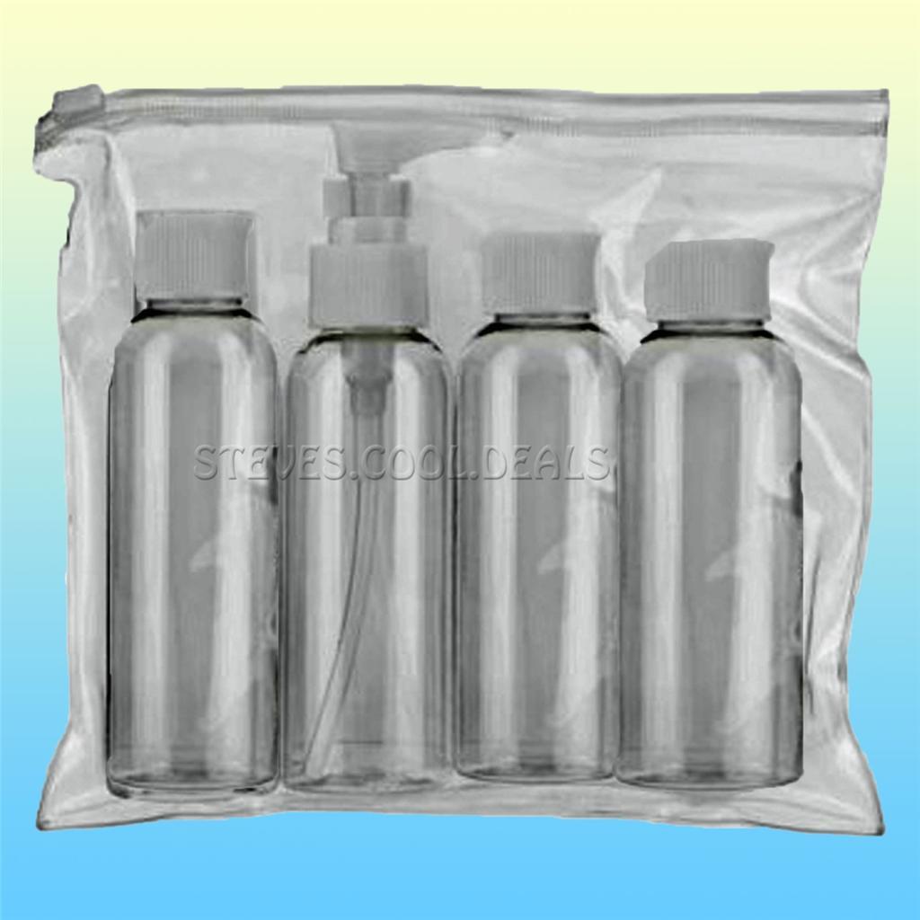 travel bottles 100ml set clear zip pouch regulation. Black Bedroom Furniture Sets. Home Design Ideas