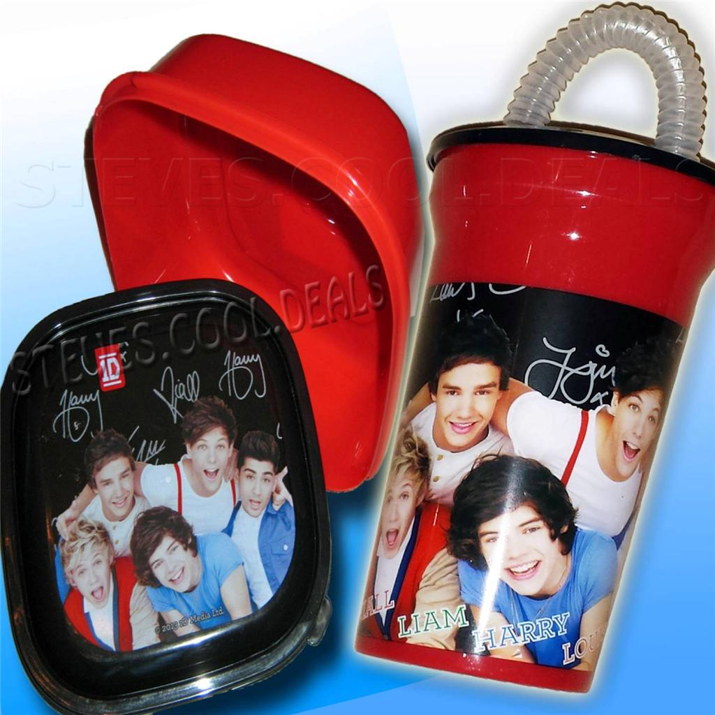 1D-ONE-DIRECTION-SNACK-BOX-DRINK-WATER-BOTTLE-PLASTIC-LUNCH-CONTAINER-FLASK