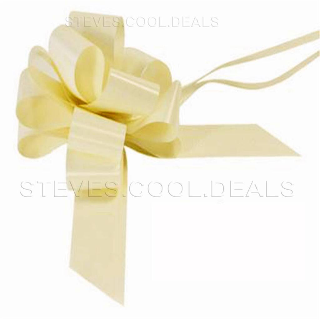 LUXURY 50MM FLORIST EASY PULL BOWS WEDDING CAR PARTY PEW END RIBBON XMAS GIFT