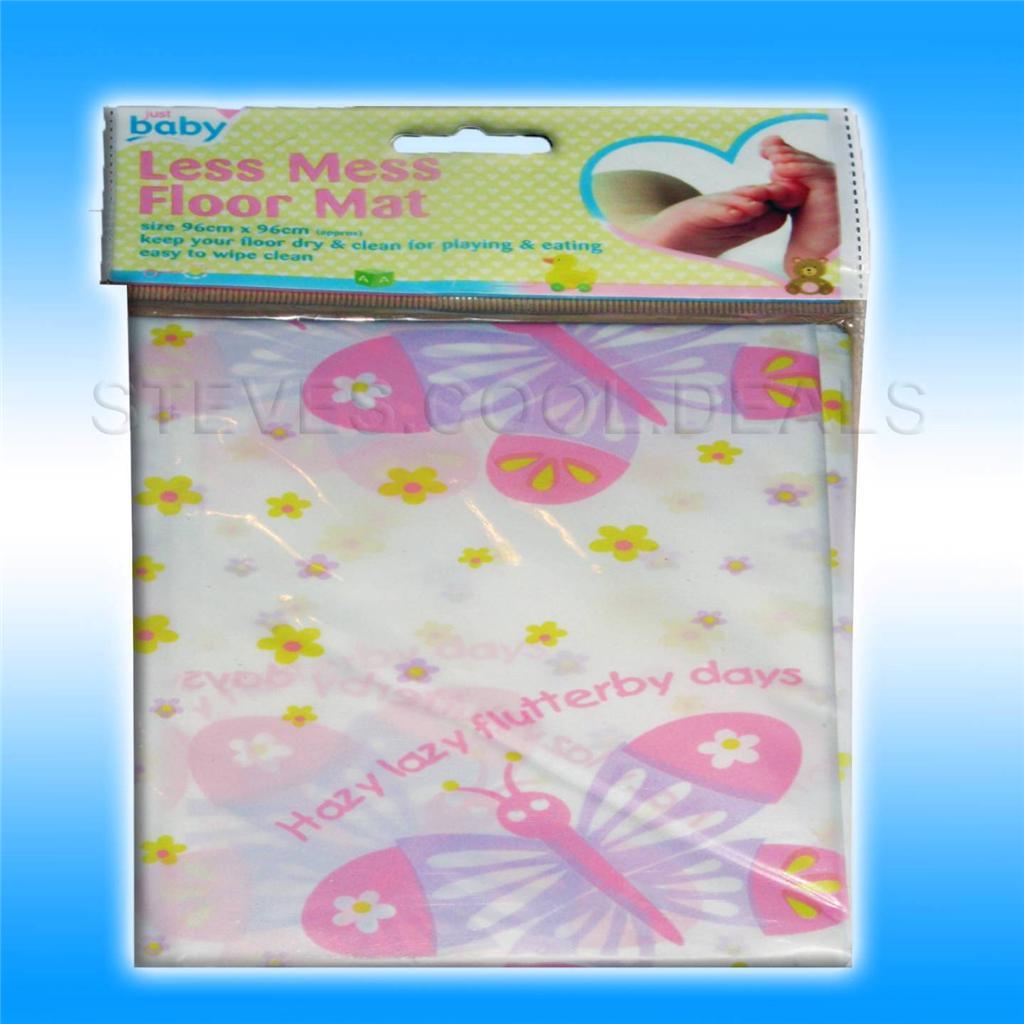 BABY-FEEDING-NO-SPLASH-FLOOR-SHEET-MAT-LESS-MESS-CRAFT-HIGH-CHAIR-SHEETING