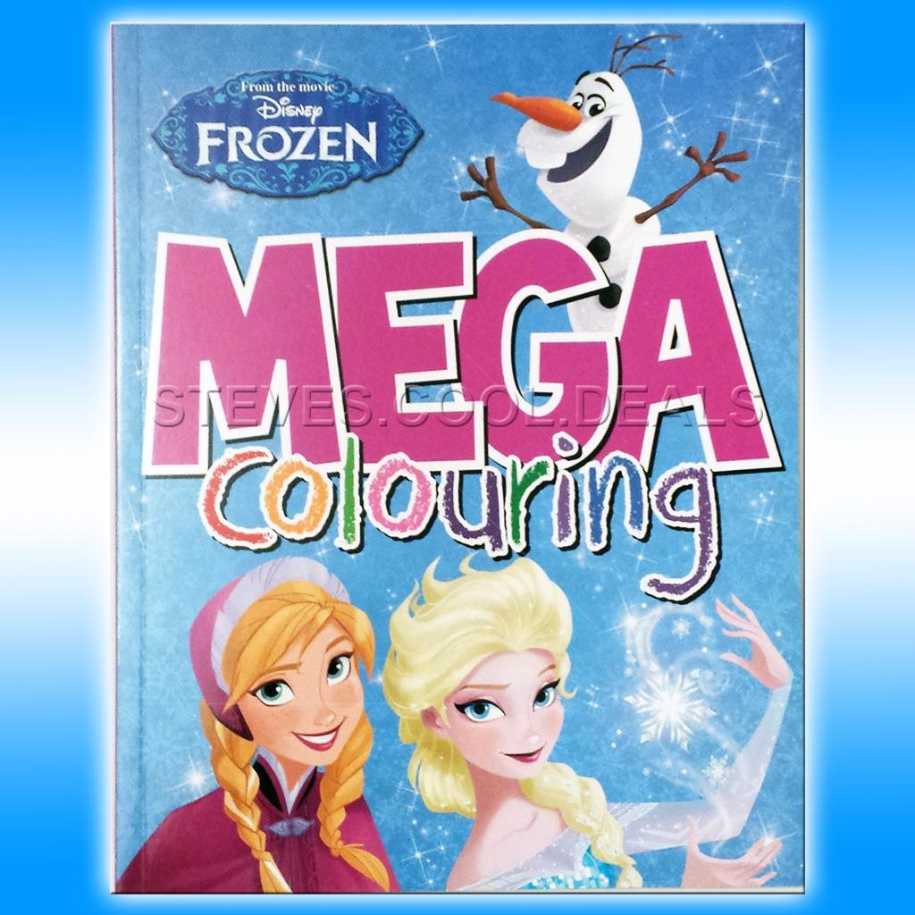 KIDS MEGA COLOURING BOOKS DISNEY FROZEN SUPERHEROES CARS COLOUR IN
