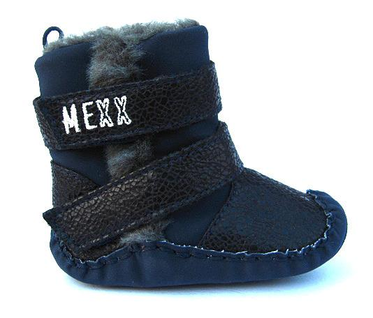 Baby Boy Girl Navy Fur Lined High Top Boots Walking Shoes