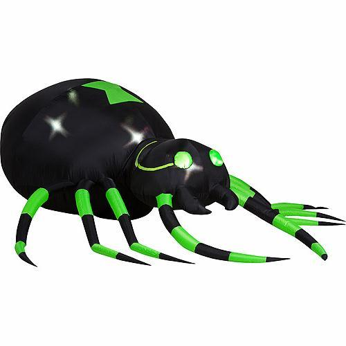 Animated lighted halloween inflatable spider yard decoration for Animated spider halloween decoration